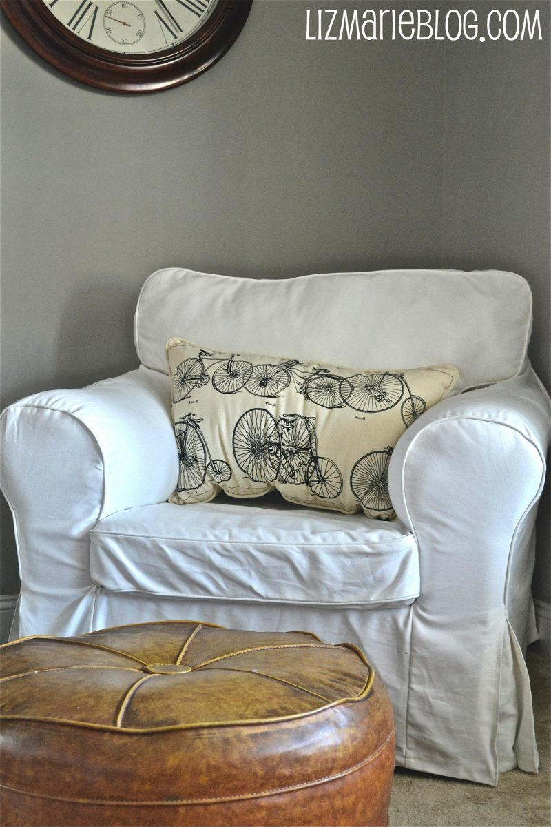 White Slipcovered Chair…