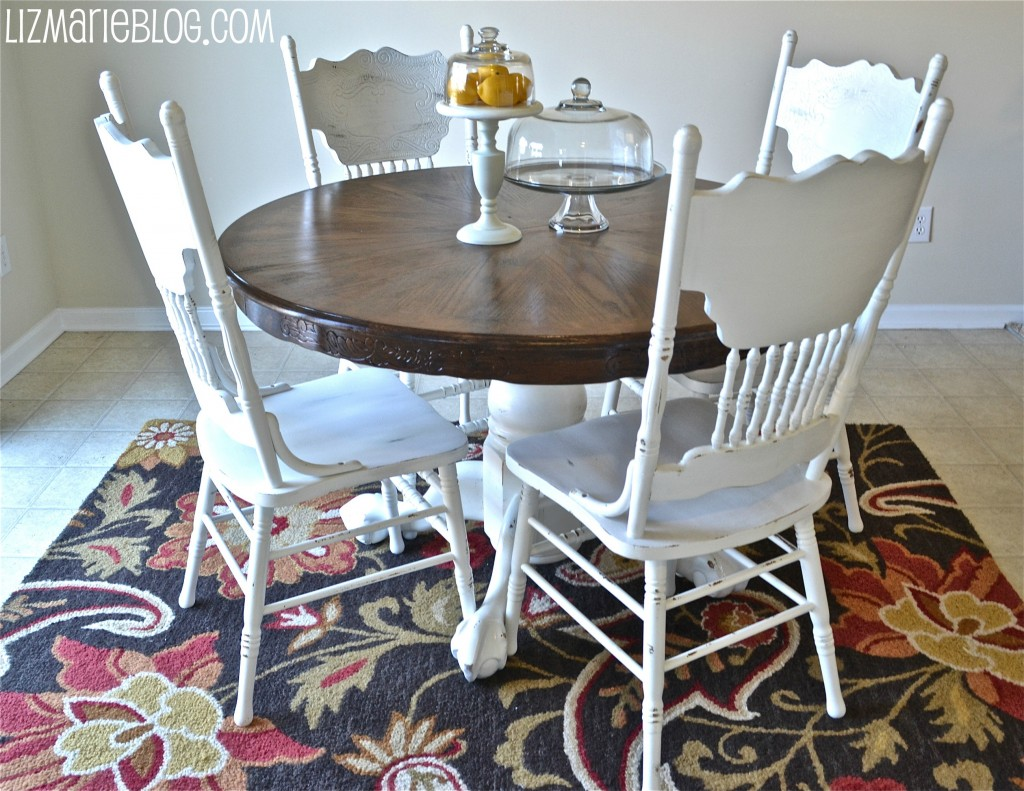 Wood Stain Amp White Kitchen Table