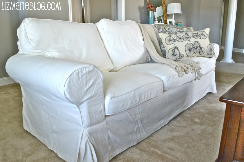 New white slipcover ikea couches White loveseat slipcovers