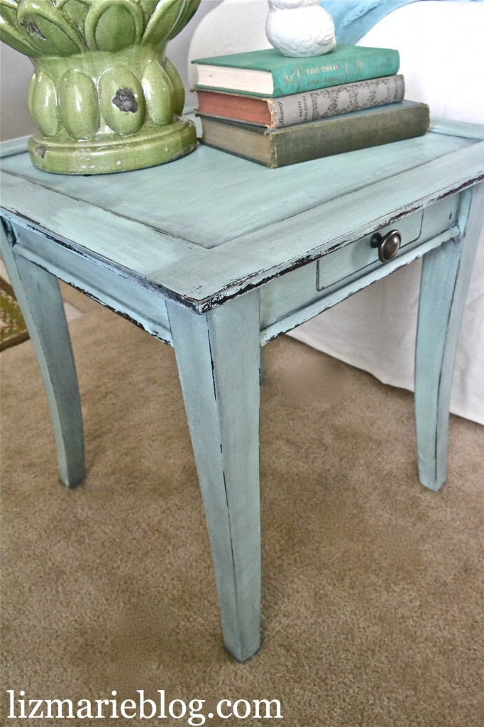 mini mint homemade chalk paint. Black Bedroom Furniture Sets. Home Design Ideas