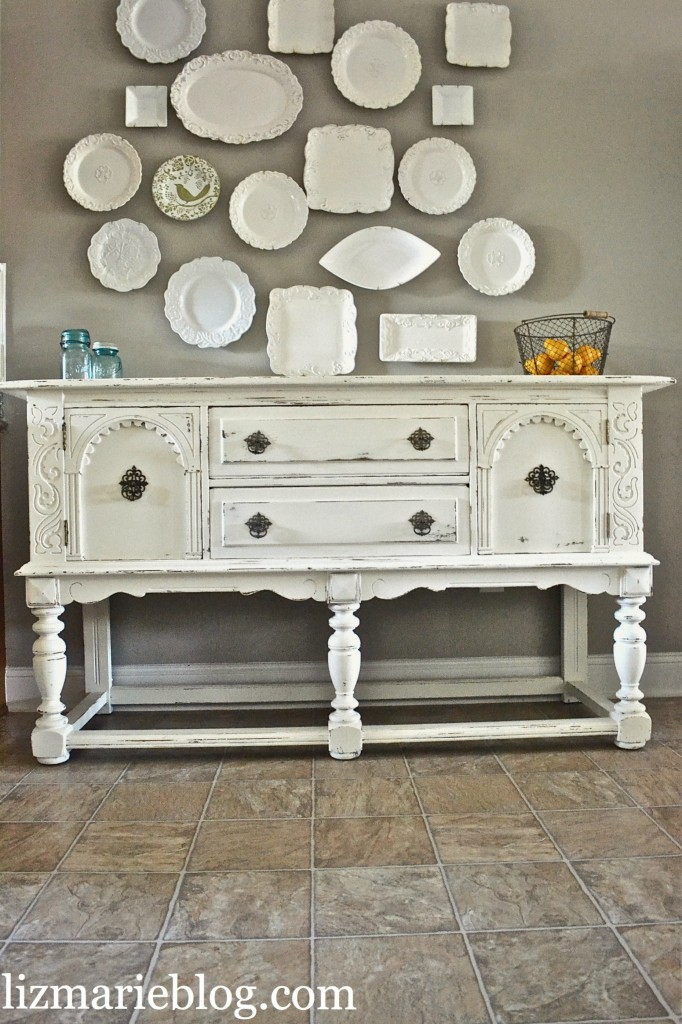 lovely shabby white buffet. Black Bedroom Furniture Sets. Home Design Ideas