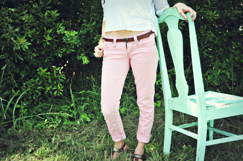 DIY Colored Skinny Jeans