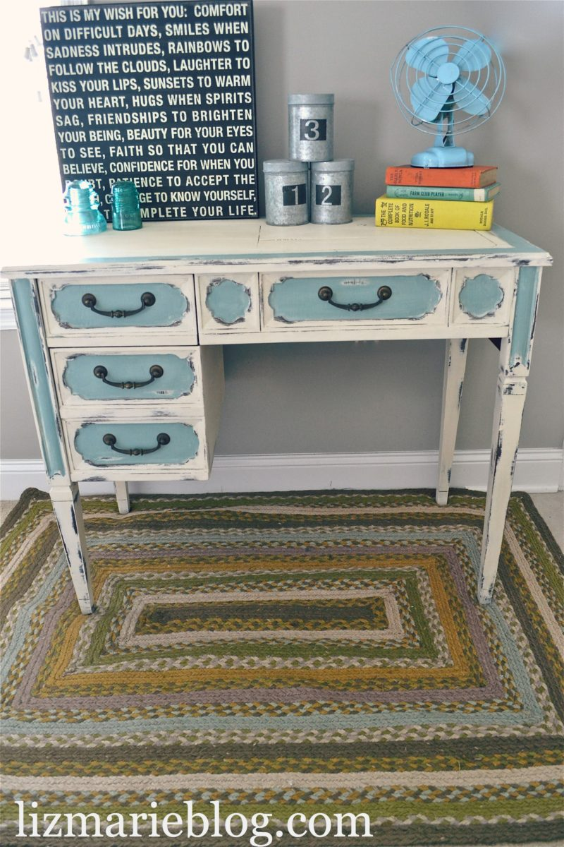 Shabby Chic Two Toned Desk