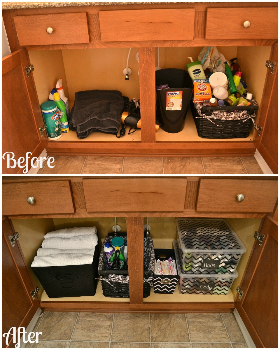 Master bathroom organizing ideas Bathroom vanity cabinet storage