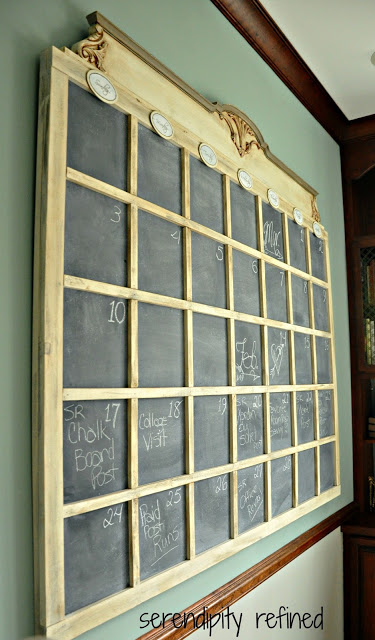 DIY Wall Chalkboard Calender Build Chalk Paint 10
