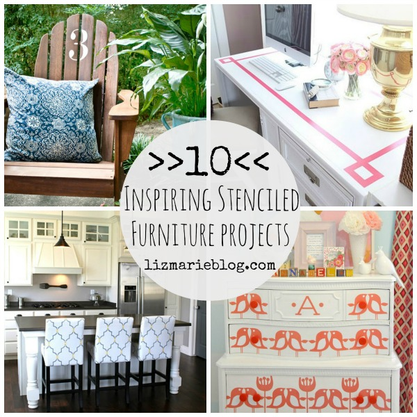 10 Stenciled Furniture Projects