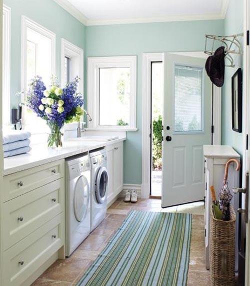 Lovely sunroom laundry room