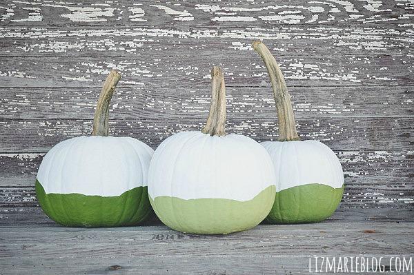 DIY Ombre Paint Dipped Pumpkins