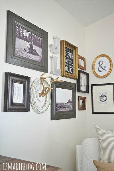 DIY corner gallery wall - lizmarieblog.com