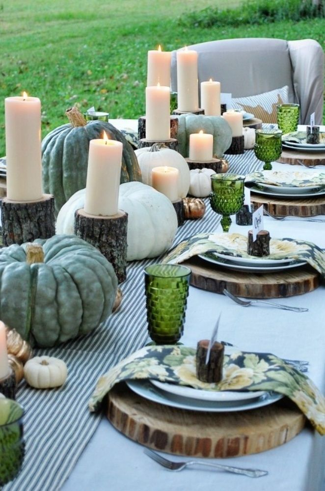10 beautiful thanksgiving tablescapes liz marie blog for Gorgeous thanksgiving table settings