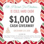 $1,000 Cold Hard Cash Giveaway
