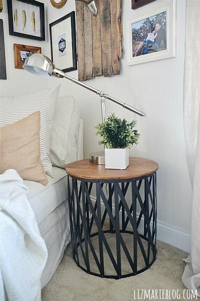 Target side table makeover - lizmarieblog.com