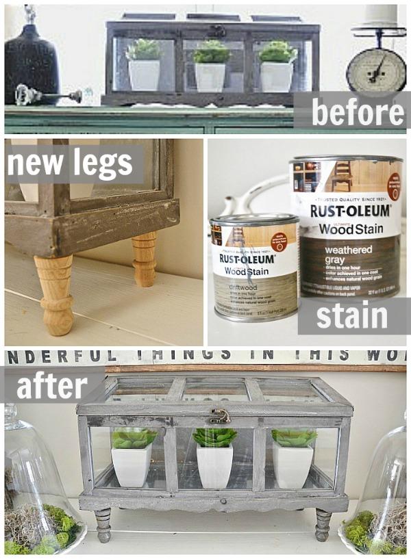 DIY terrarium with legs - lizmarieblog