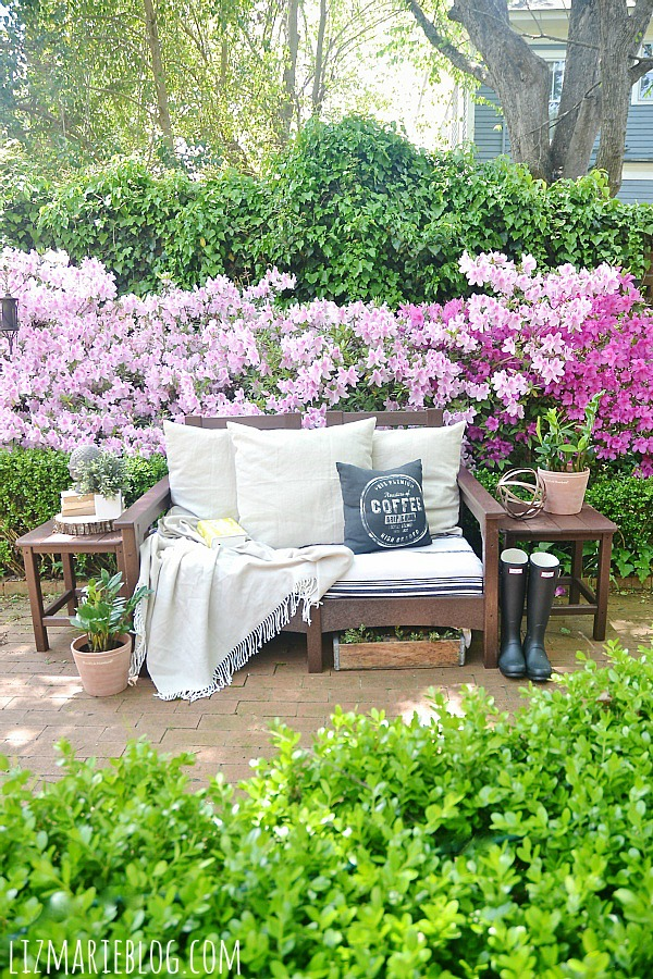 Recycled Outdoor Furniture & Our New Back Patio Liz Marie Blog