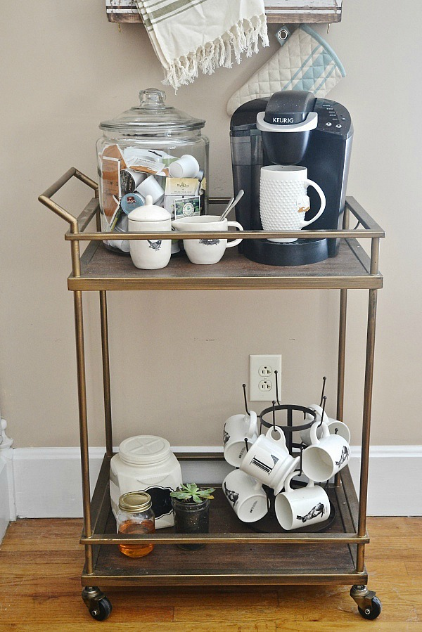 DIY coffee cart - lizmarieblog.com