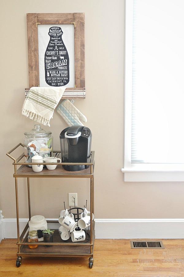 DIY coffee cart - lizmarieblog.com
