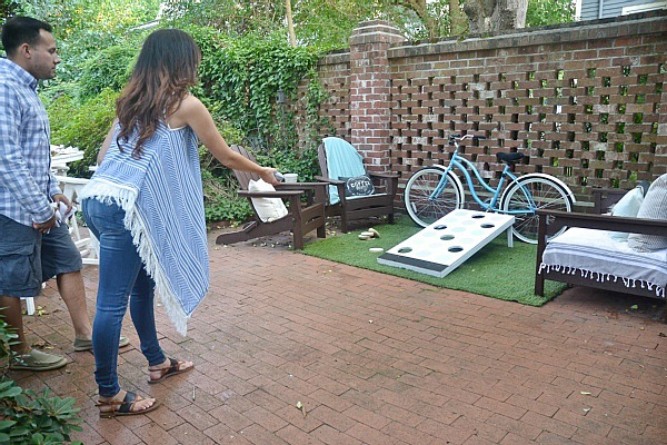 DIY Simon Says Cornhole - a super fun easy DIY backyard game that everyone will love!