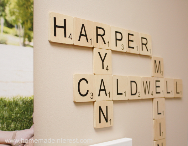 Scrabble Pieces Wall Decor : Inspire me please linky party