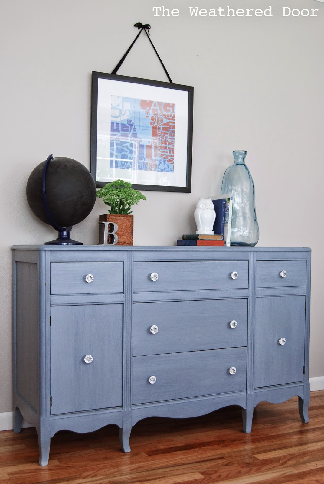 grey-blue hepplewhite buffet WD-6