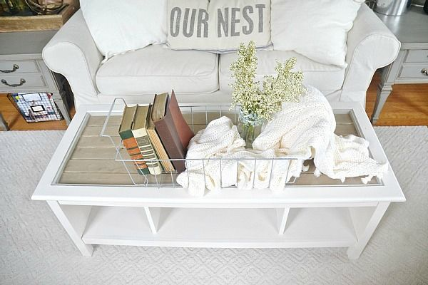 Wood Top Coffee Table Makeover