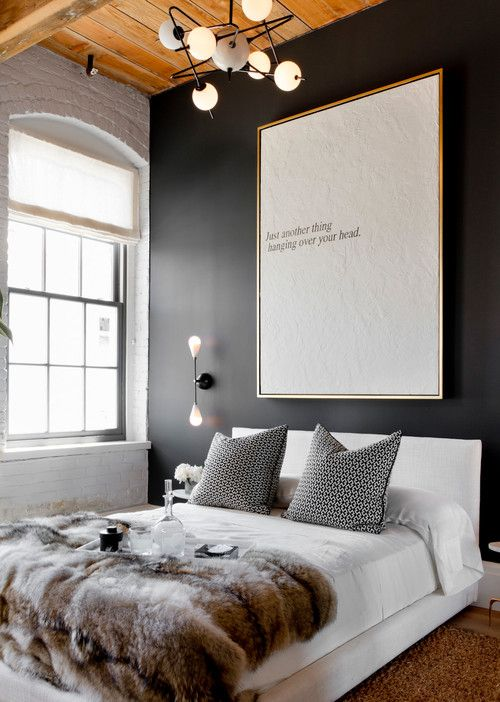black walls bedroom