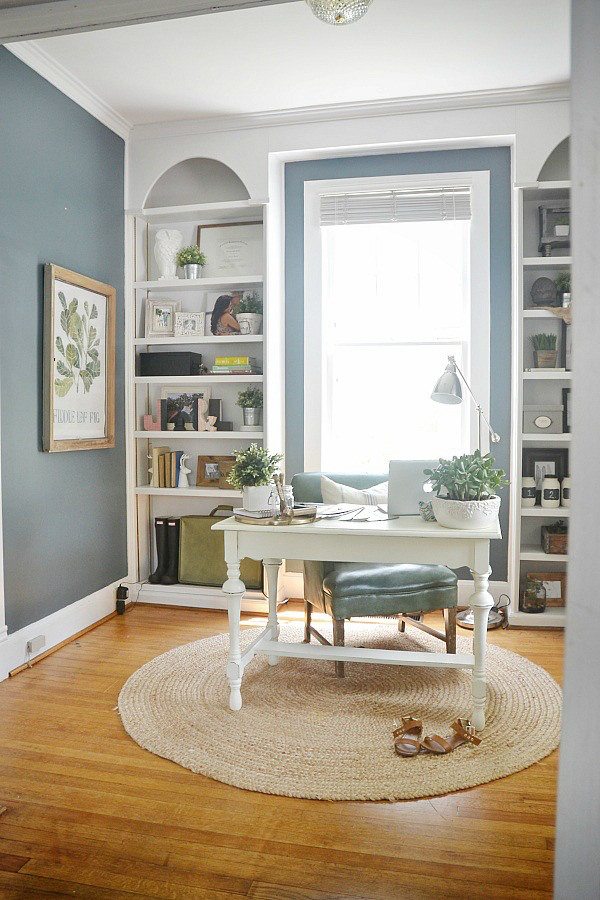 Liz Marie Blog Beautiful Blue Office