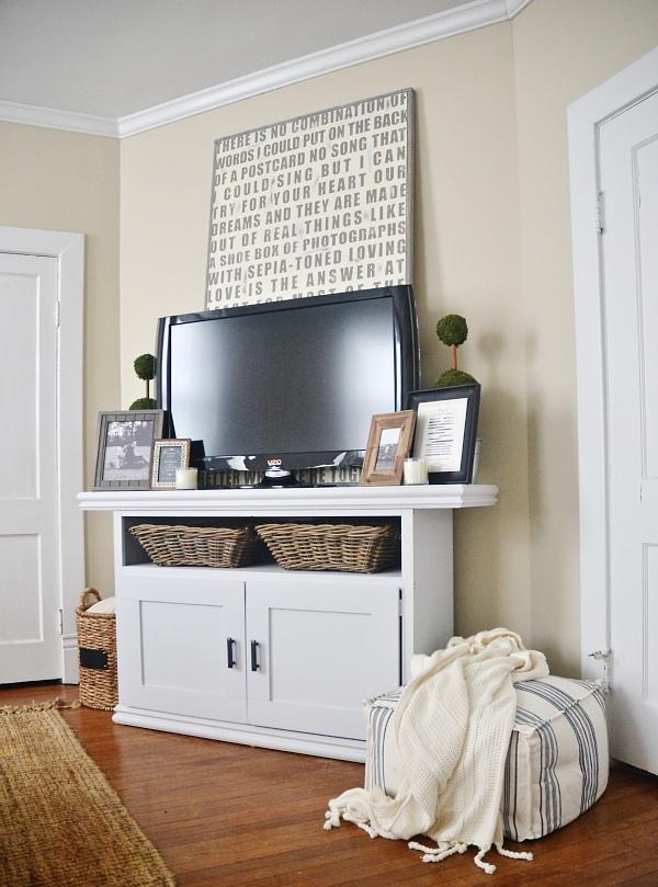 DIY TV Console Cabinet