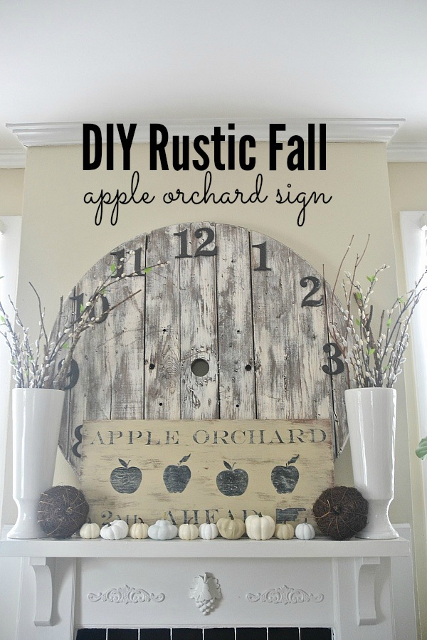 DIY rustic fall sign - the easiest way to make a sign!