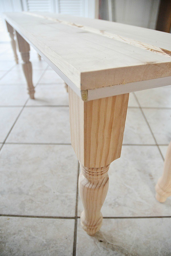 DIY rustic bench