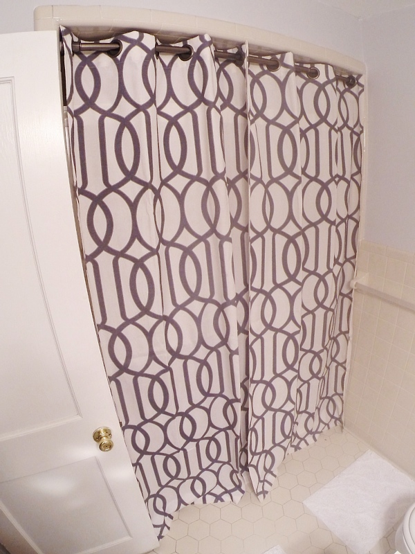 LMB Rental Bathroom Makeover – Pt. 3 Shower Curtain
