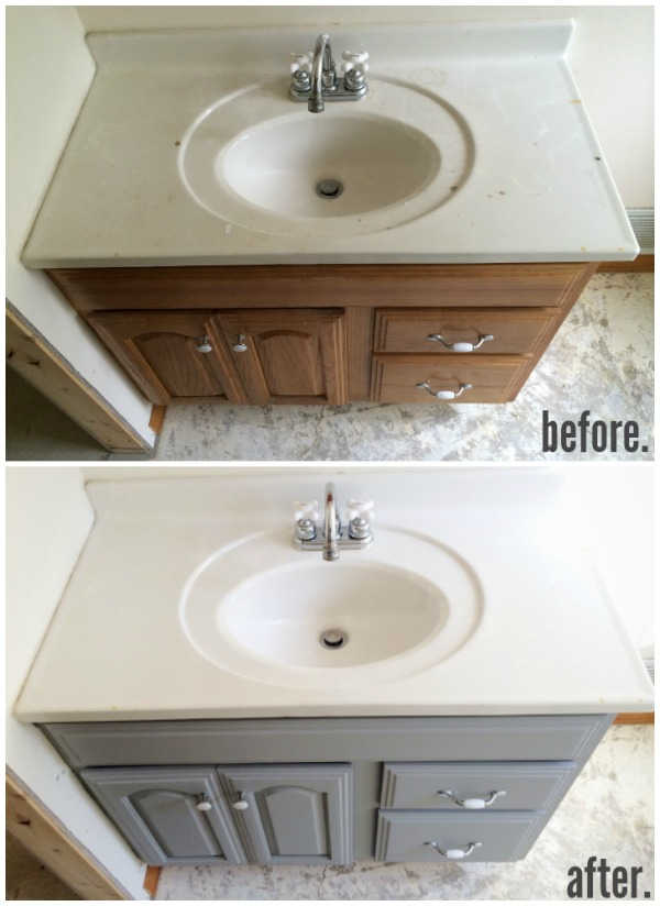 Painted Bathroom Vanity Michigan House Update Liz Marie Blog