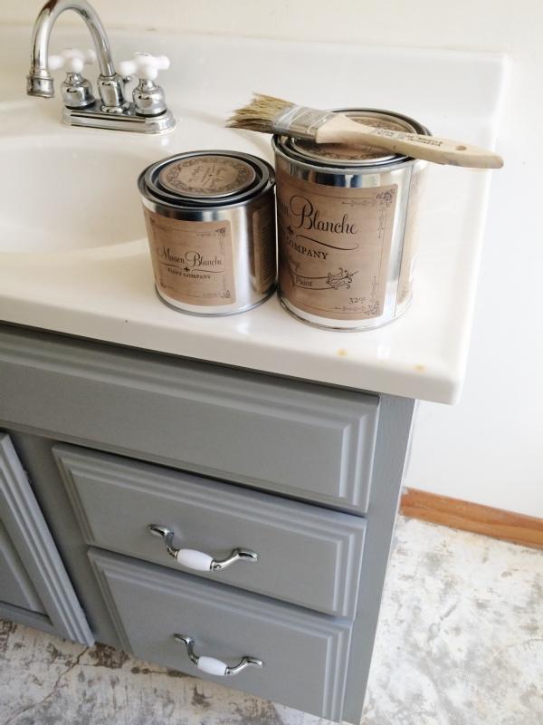 painted bathroom vanity michigan house update