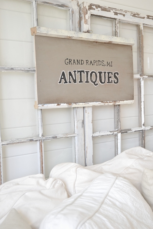 DIY Antique Window Sign