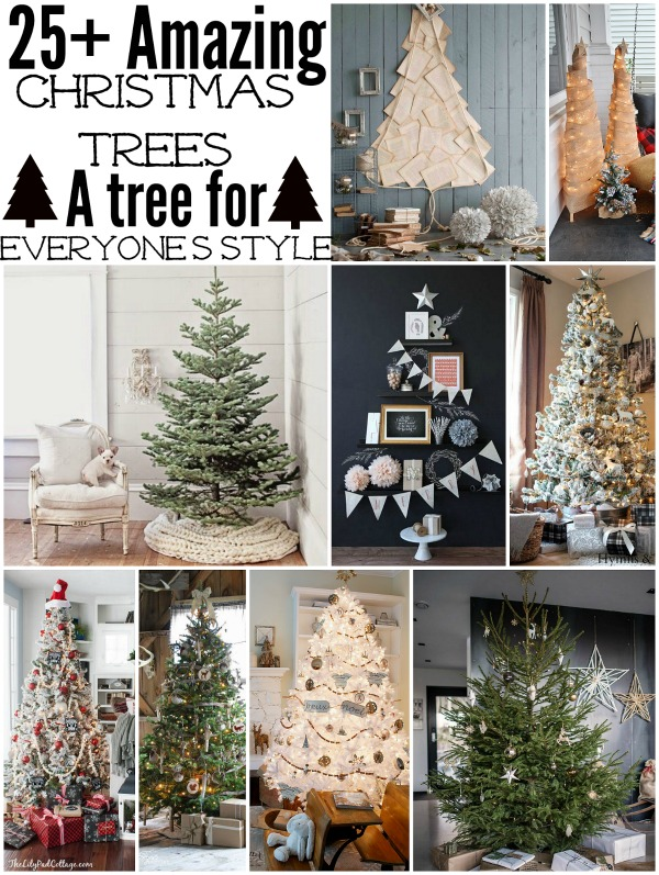 25+ Christmas trees to inspire you!! A must pin for this holiday season & seasons to come... So many unique Christmas trees to inspire you!