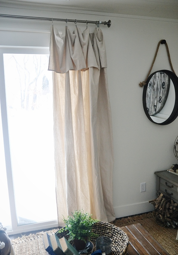 New Curtains & Some DIY No-Sew Curtains