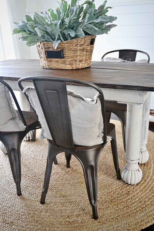Rustic Metal Dining Chairs metal farmhouse chairs | winda 7 furniture