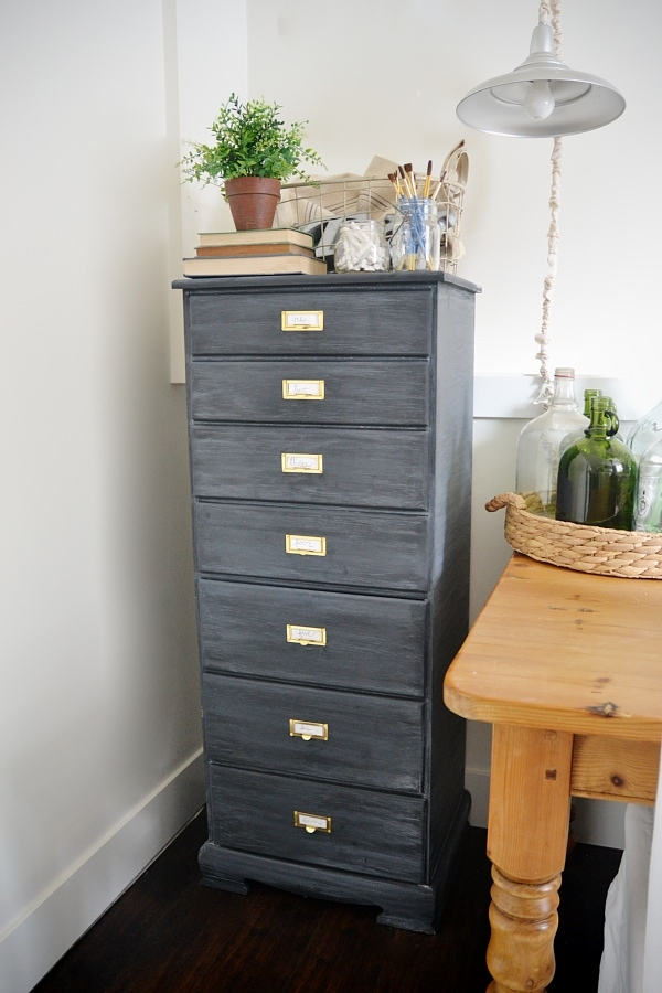DIY Antique Office Drawers Makeover