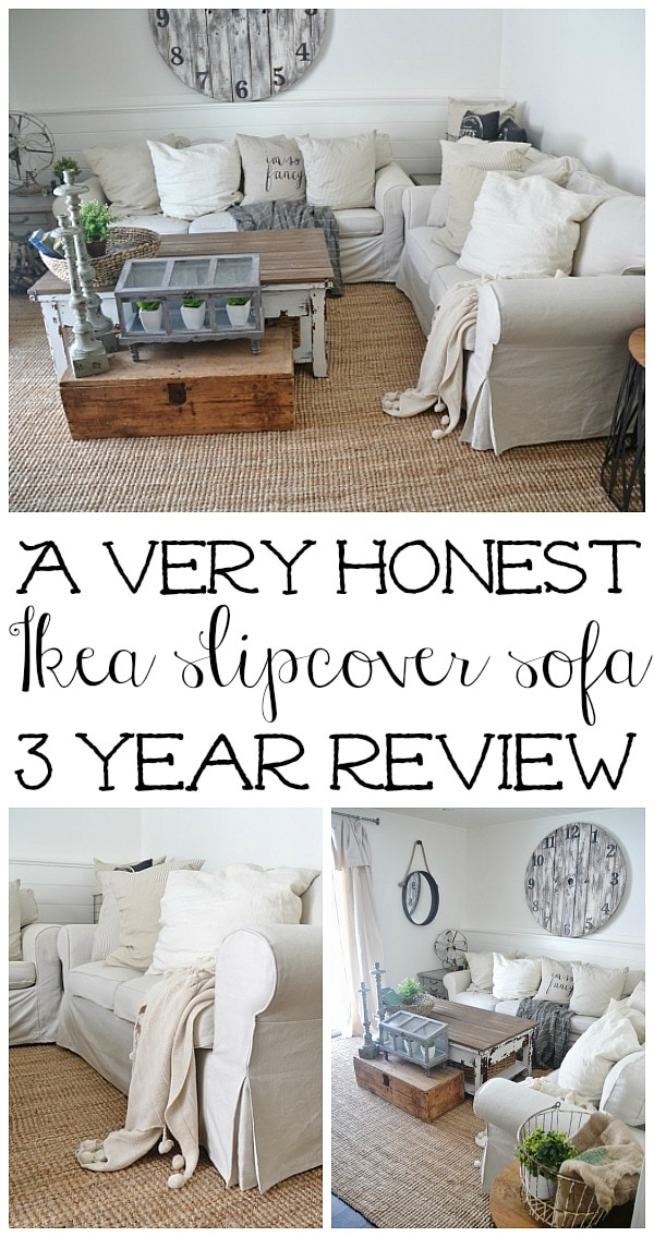 A complete & thorough review of the Ikea Ektorp sofa - A great guide to whether or not the ikea slipcovered sofa is for you with honest opinions!