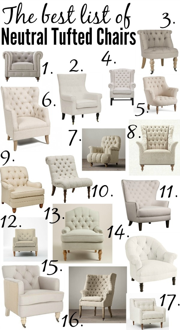 The Best Tufted Neutral Chairs