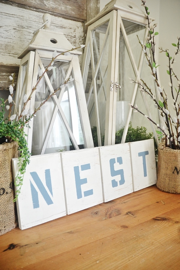 DIY Nest Sign
