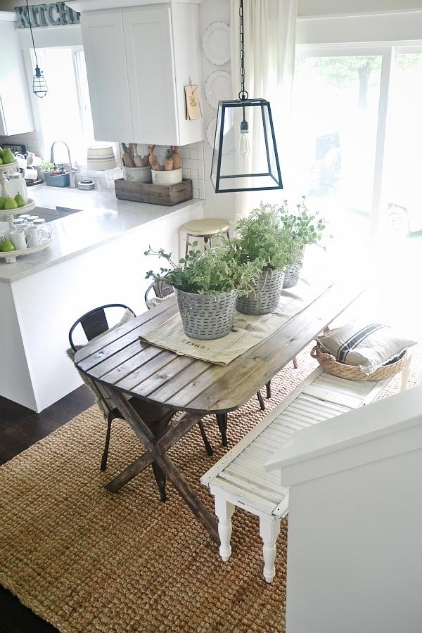 DIY X Leg Farmhouse Table