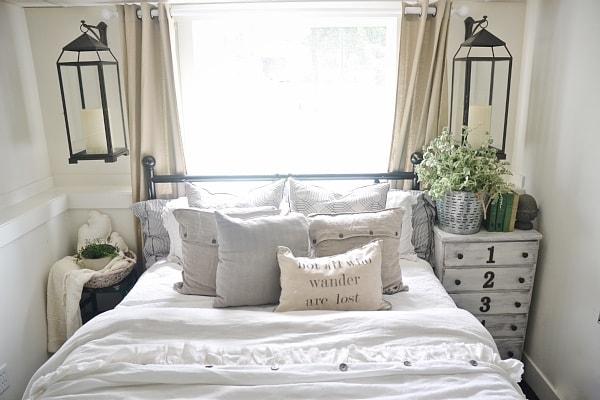 . Guest Bedroom Makeover  Lanterns   Liz Marie Blog