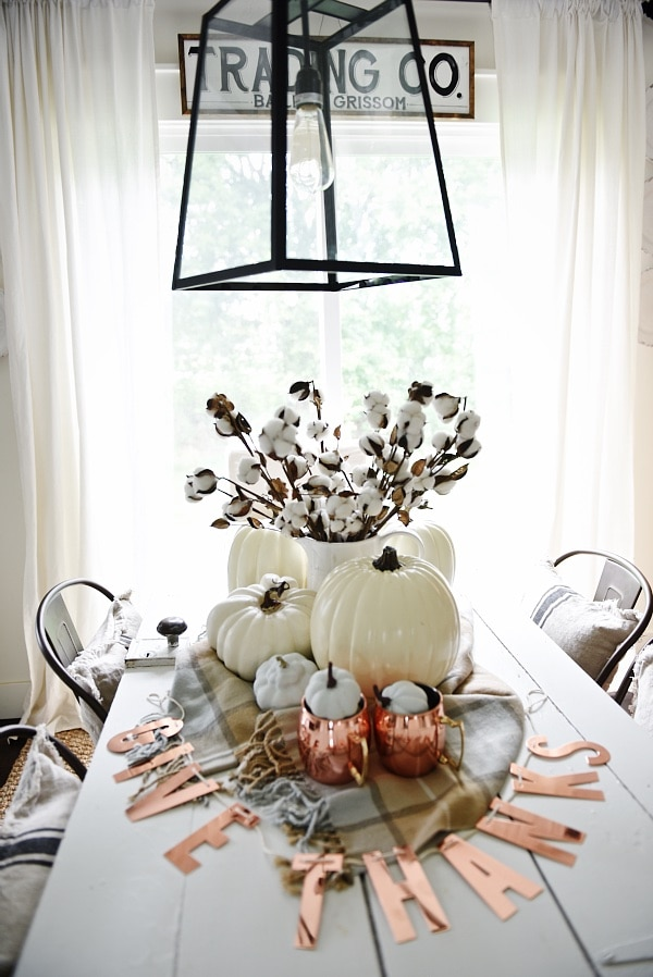 Neutral & Copper Fall Centerpiece