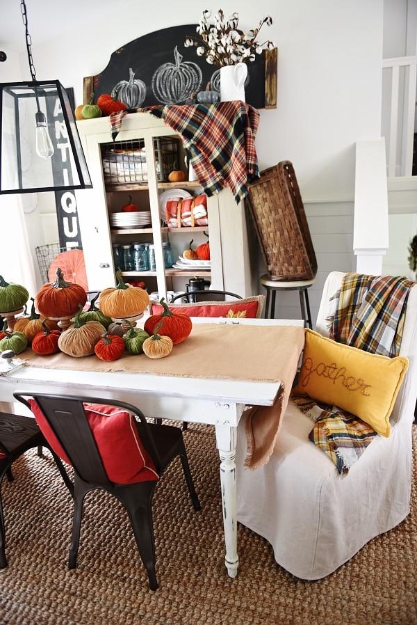 Velvet Pumpkin Fall Dining Room