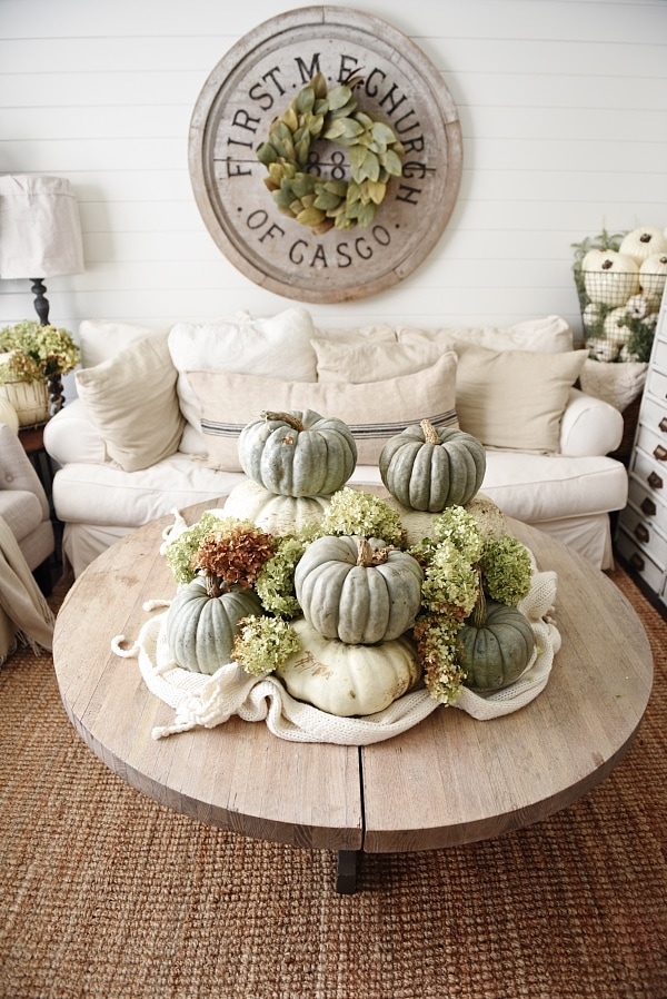 10 Large Living Room Ideas To Fall In Love With: Heirloom Pumpkin Coffee Table