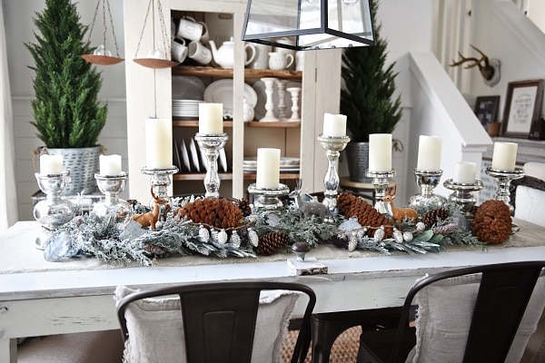 Rustic Winter Woodland Dining Room