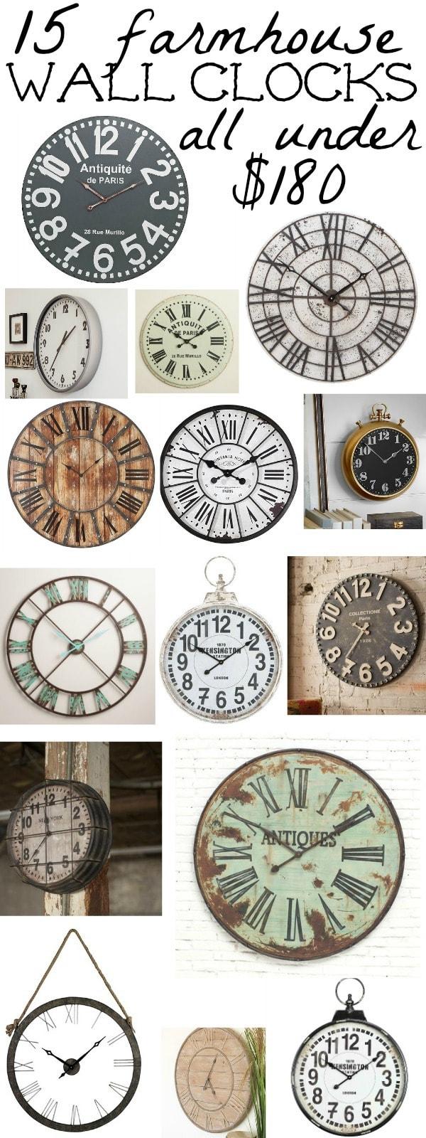 15 Farmhouse Clocks Under $180