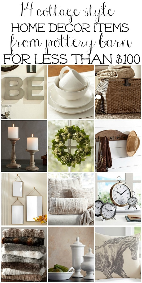 Cottage style home decor for less than 100 liz marie blog for Home decor for less