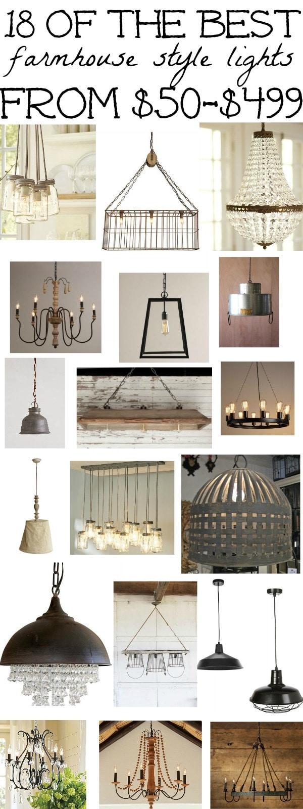 18 of the best farmhouse light fixtures liz marie blog arubaitofo Image collections