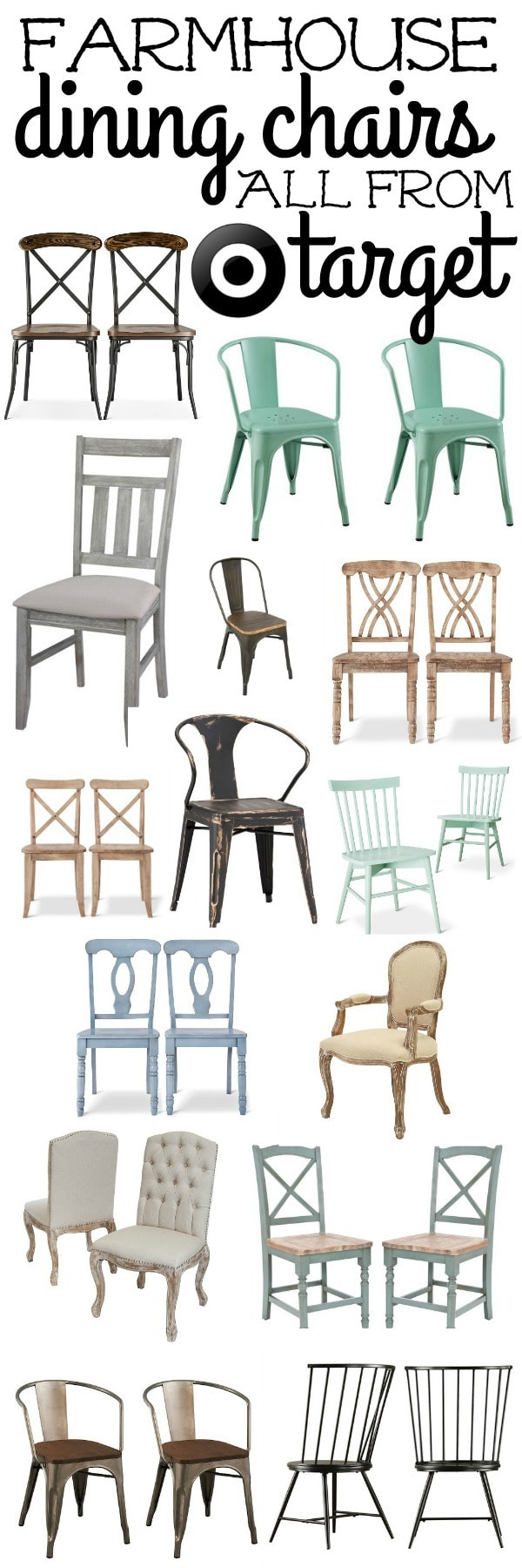 The best farmhouse dining room chairs. Great chairs that will add that rustic farmhouse vibe to any dining room.